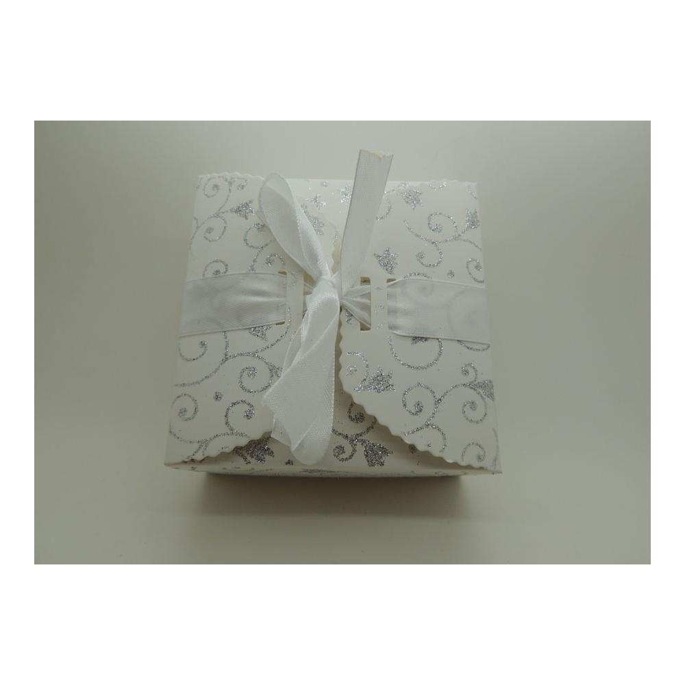 boite a gteaux paillete blanche - Boites Gateaux Orientaux Pour Mariage