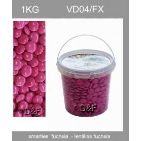 Dragées lentilles -1 fuschiaKG