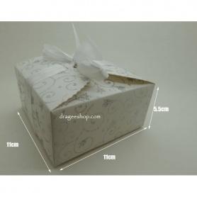 Boite a gâteaux Pailletée blanche