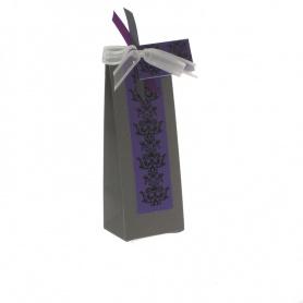 Boites à dragée- Gris et violet