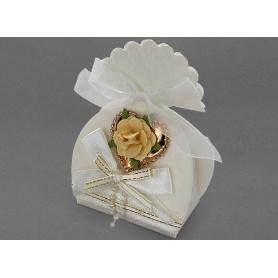 Boites à dragées  mariage fleur  x10pcs