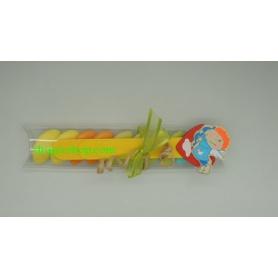 Dragée Baptême tube transparent