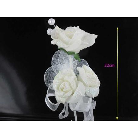 Fleur de dragée mariage x12 pcs