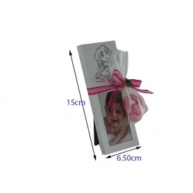 Cadre photo  vertical  en inox-Dora