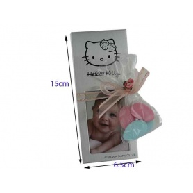 Cadre photo  vertical  en inox-hello Kitty