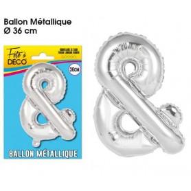Ballon lettre- &- argenté métallique
