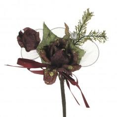 Fleure à dragées chic thème rouge X10