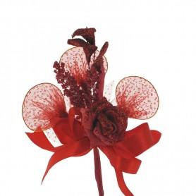 Fleure à dragées chic thème amour X10