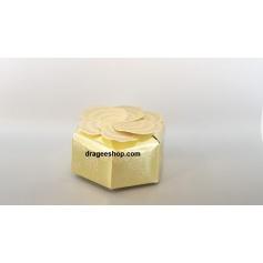 Boîte à gâteaux -Fleurs Doré