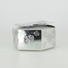 Boîte à gâteaux -Fleurs Argenté