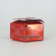 Boîte à gâteaux -Fleurs Rouge x25 pcs